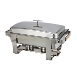Winco C-6080 Full Size Chafer w/ Lift-off Lid & Chafing Fuel Heat