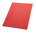 "Winco CBRD1218 Cutting Board, 12 x 18 x .5"", Red"