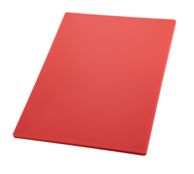 "Winco CBRD1520 Cutting Board, 15 x 20 x .5"", Red"