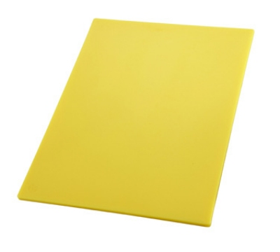"Winco CBYL1218 Cutting Board, 12 x 18 x .5"", Yellow"