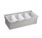 Winco CDP-4 4-Compartment Condiment Dispenser, Stainless