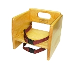 Winco CHB-701 Stacking Booster Seat w/ Waist & Chair Straps, Natural