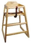Winco CHH-101 Stacking Hi-Chair w/ Natural Wood Finish, Unassembled