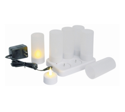 Winco CLR-6S Flameless Tealight Candle Set w/ Plastic Cup & Battery, 7.48 x 5.51 x 4.33""