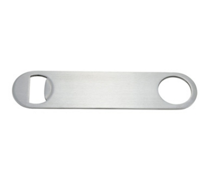 "Winco CO-301 7"" Flat Bottle Opener, Stainless"