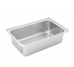 "Winco CWPF6 Full-Size Water Pan, 6"" Deep, Stainless"