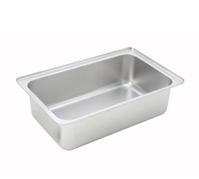 Winco CWPF6 Full-Size Water Pan, 6-in Deep, Stainless