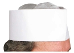 "Winco DCH-3 3"" Disposable Chef Hat"