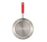 "Winco FPT3-12 12"" Stainless Steel Frying Pan w/ Solid Silicone Handle"