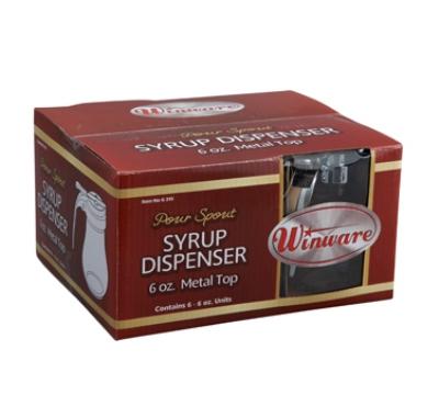 Winco G-315 6-oz Glass Syrup Dispenser