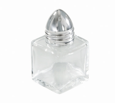 "Winco G-100 2"" Salt/Pepper Shaker w/ Metal Lid, Square"