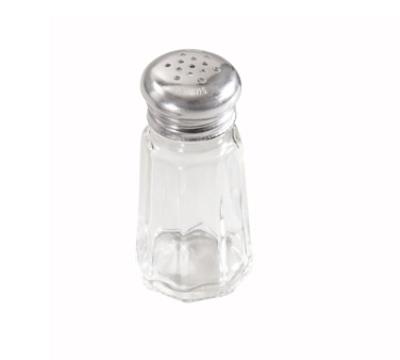 "Winco G-105 3"" Salt/Pepper Shaker w/ Metal Lid, Paneled"