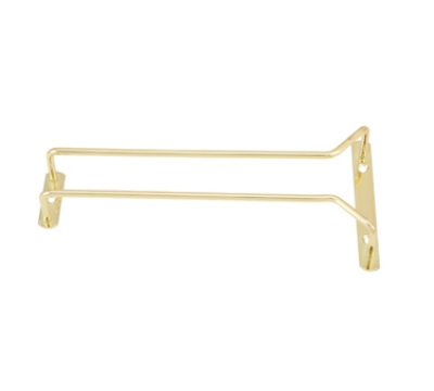 "Winco GH-10 10"" Wire Glass Hanger, Brass Plated"