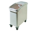 Winco IB-21 21-ga Ingredient Bin w/ Clear Plastic Cover, Clasp Sliding Lid & Scoop, White