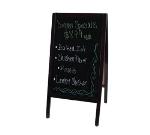 Winco MBAF-3 Sidewalk Marker Board Set w/ (4) Markers & (1) Eraser, Mahogany Finish