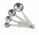 Winco MSPD-4X 4-Piece Deluxe Measuring Spoon Set, Stainless