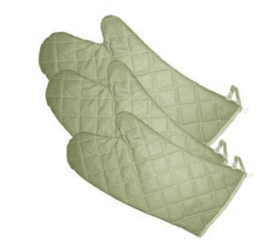 "Winco OMF-17 17"" Oven Mitt, Flame Resistant up to 400 F"