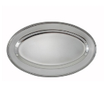 Winco OPL-16 Oval Platter, 16 x 10.25-in, Heavy Stainless Steel