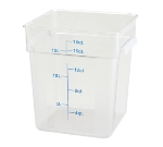 Winco PCSC-18C 18-qt Square Storage Container, Polycarbonate, Clear