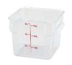 Winco PCSC6C 6-qt Square Storage Container, Polycarbonate, Clear