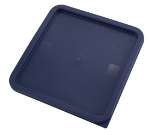 Winco PECC-128 Container Cover for 12, 18 & 22-qt Square Storage Containers, Polyethylene, Blue