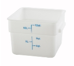 Winco PESC-12 12-qt Square Storage Container, Polyethylene, White