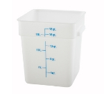 Winco PESC-18 18-qt Square Storage Container, Polyethylene, White