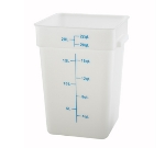Winco PESC-22 22-qt Square Storage Container, Polyethylene, White
