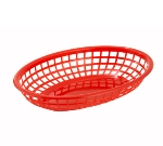Winco PFB-10R Oval Fast Food Basket, Red