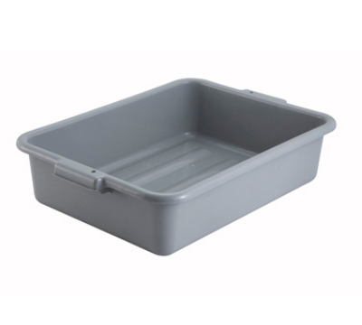 Winco PL-5G 5-in Plastic Dish Box, Grey