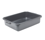 "Winco PL-5K 5"" Plastic Dish Box, Black"