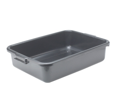 Winco PL-5K 5-in Plastic Dish Box, Black
