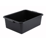 "Winco PL-7K 7"" Plastic Dish Box, Black"