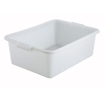 "Winco PL-7W 7"" Plastic Dish Box, White"