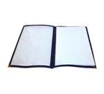 "Winco PMCD-9B Double-Fold Menu Cover, 9.5 x 12"", Blue"