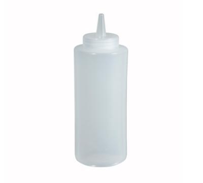 Winco PSB-12C 12-oz Plastic Squeeze Bottle, Clear
