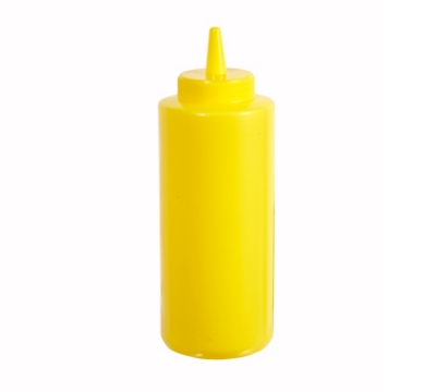 Winco PSB-12Y 12-oz Plastic Squeeze Bottle, Yellow