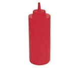 Winco PSB-24R 24-oz Plastic Squeeze Bottle, Red