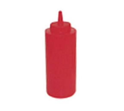 Winco PSB-08R 8-oz Plastic Squeeze Bottle, Red