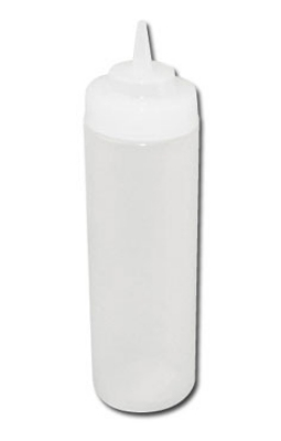 Winco PSW-12 12-oz Wide Mouth Squeeze Bottle, Plastic, Clear