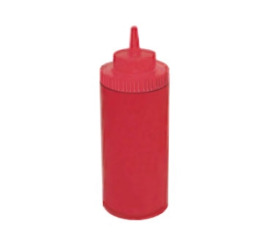 Winco PSW-16R 16-oz Plastic Squeeze Bottle, Wide Mouth, Red