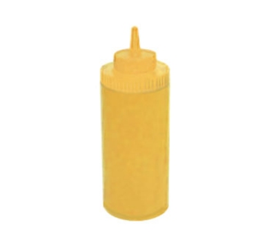 Winco PSW-16Y 16-oz Plastic Squeeze Bottle, Wide Mouth, Yellow