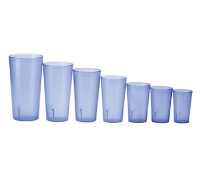 Winco PTP-32B 32-oz Pebbled Tumbler, Blue