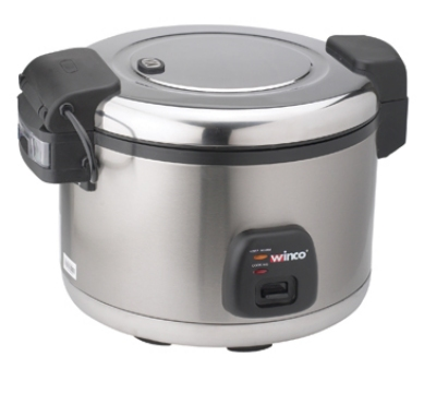 Winco RC-S300 30-Cup Electric Rice Cooker w/ Hinged Cover & Stainless Body, Satin Finish