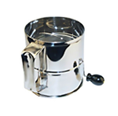 Winco RFS-8 8-Cup Rotary Sifter, Stainless