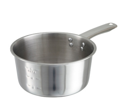 Winco SAP-2 2-qt Stainless Steel Saucepan w/ Solid Metal Handle