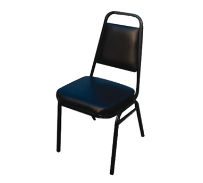 Winco SC-2K Stacking Side Chair w/ 2-in Black Pad Seat