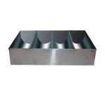 Winco SCB-4 4-Compartment Cutlery Bin, Stainless