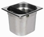 "Winco SCD-5 Coffee Knock Box, 6.89 x 6.3 x 5.2"", Stainless"