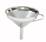 "Winco SF-6 5.75"" Wide Mouth Funnel, Stainless"
